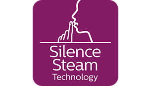 Silent steam technology: Powerful steam with minimum sound