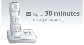 Up to 30 minutes of messages on your answering machine