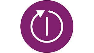 Se opreşte automat pentru a garanta siguranţa şi a economisi energie