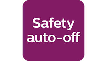 The safety auto off function automatically switches the appliance off