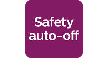 The safety auto off function automatically switches off