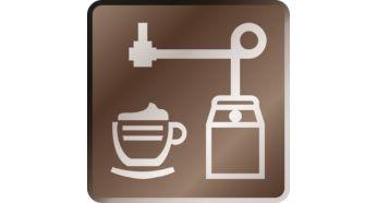 Une mousse veloutée sur simple pression d'un bouton grâce au mousseur de lait automatique