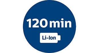 Puissante batterie Li-ion offrant 120min d'autonomie