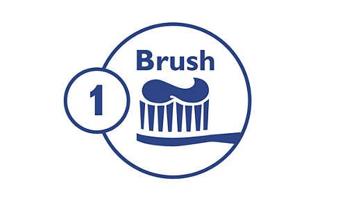 Step 1: Brush