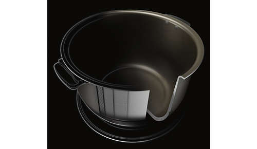 Extra hard nano-ceramic coating of the inner pot is nonstick, scratch resistant, extra durable and dishwasher safe
