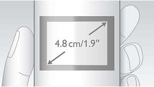"""Высококонтрастный графический дисплей 4,8см (1,9"""")"""