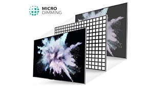 Micro Dimming optimises the contrast on your TV