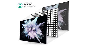 Micro Dimming optimiza o contraste no seu televisor