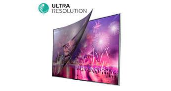 A Ultra Resolution converte qualquer conteúdo em Ultra HD cristalino