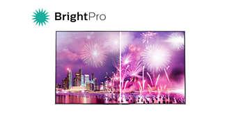 O BrightPro reforça os tons brancos e brilhantes ao máximo