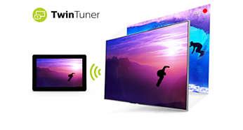 Двойният тунер ви позволява да гледате или записвате повече от една програма