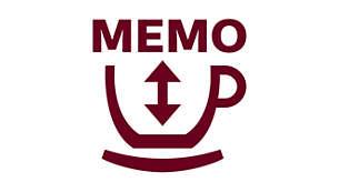 記憶功能可幫助您獲得個性化咖啡醇度