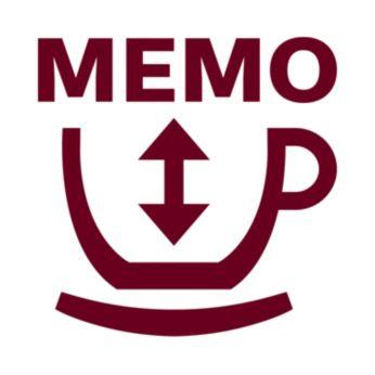 Programuokite kavos kiekį naudodamiesi atminties funkcija