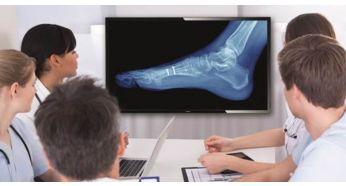 Muestra imágenes clínicas de forma coherente gracias a la imagen digital