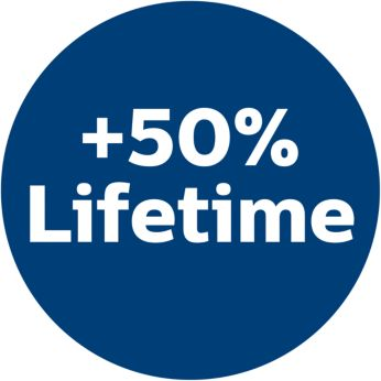 Срок службы увеличен на 50% по сравнению с обычными бумажными мешками