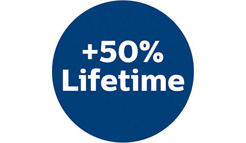 50% längere Lebensdauer als herkömmliche Papierbeutel