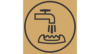Umývateľná epilačná hlava pre extra hygienu a jednoduché čistenie.