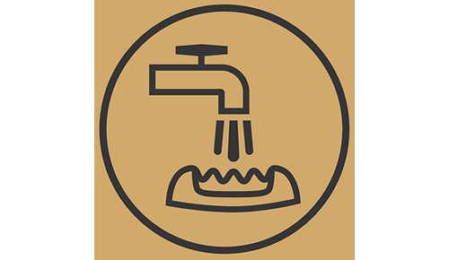 Testina epilatoria lavabile per una pulizia facile e per la massima igiene.