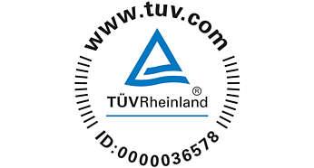 TÜV-gecertificeerd voor betrouwbare resultaten