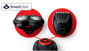 SmartClick system with easy click-on/off attachments