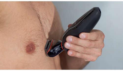 Lichaamshaar eenvoudig veilig trimmen en scheren
