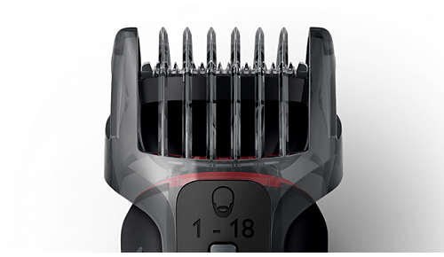 Bartschneidekamm mit 18 Längeneinstellungen
