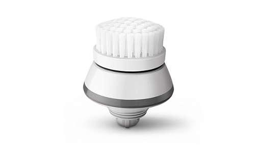 Szczoteczka do oczyszczania, która czyści delikatnie i dokładnie oraz powoduje mniej podrażnień