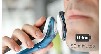 可供無線刮鬍 50 分鐘