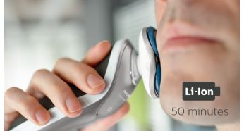 50 minutes of cordless shaving - Philips Shaver Series 7000 Wet and Dry Electric Shaver