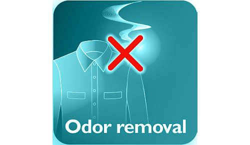 Élimine les odeurs de cigarette, de cuisine et de transpiration