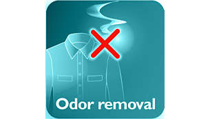 Removes cigarette, food and body odors