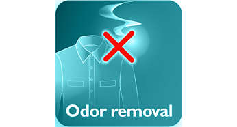 Remove odores a cigarro, comida e odores corporais