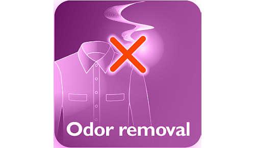Elimina los olores corporales, a comida, y del tabaco