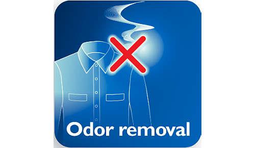 Verwijdert sigaretten-, etens- en lichaamsgeuren