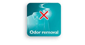 Elimina odores do corpo, de alimentos e cigarros