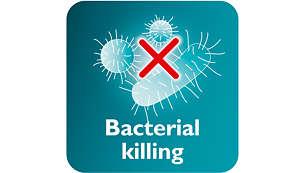 Ånga dödar upp till 99,9% av alla bakterier*