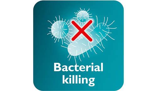 Il vapore uccide fino al 99,9% dei batteri*