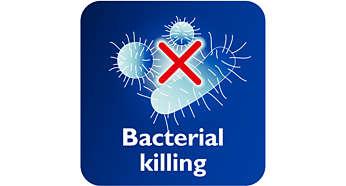 A gőz elpusztítja a baktériumok 99,9%-át*