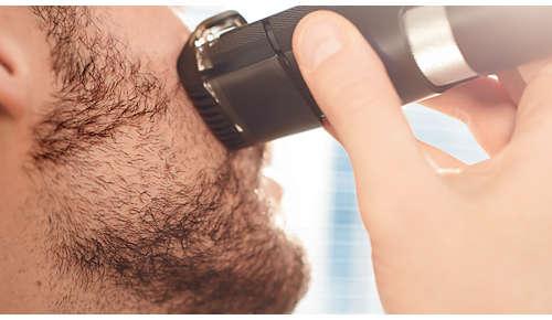 Hebt das Haar auf Klingenhöhe an für gleichmäßige Ergebnisse