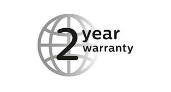2 year warranty, worldwide voltage and no need to oil