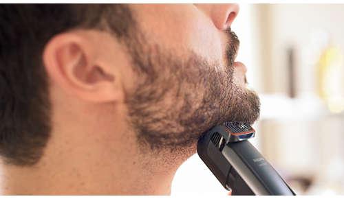 Usa il pettine a 0,4mm per un perfetto look barba di 3 giorni