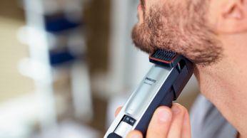 Поддържайте идеална 3-дневна набола брада, като използвате настройката за 0,4 мм ежедневно