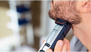 Luce una barba perfecta de 3 días utilizando la posición del peine de 0,4mm a diario