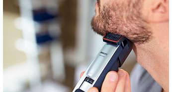 Onderhoud de perfecte stoppelbaard van 3 dagen door dagelijks te scheren met de 0,4 mm stand