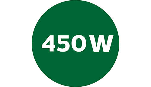 Tehokas moottori, 450W:n nimellisteho 1600 W:n maksimiteho