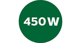 Moteur puissant avec puissance nominale de 450W et arrêt automatique à 1600W