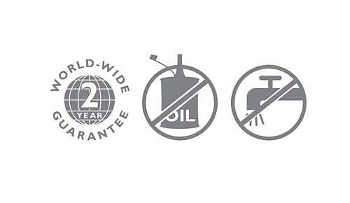2letá celosvětová záruka, není třeba olej