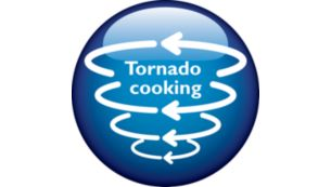 """""""Tornado Cooking"""" accelerates the cooking time just 25 min"""
