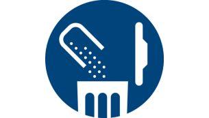 Bagless: One-step empty dust bucket
