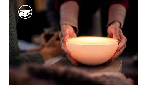 Draagbaar licht om de sfeer in elke kamer te verbeteren